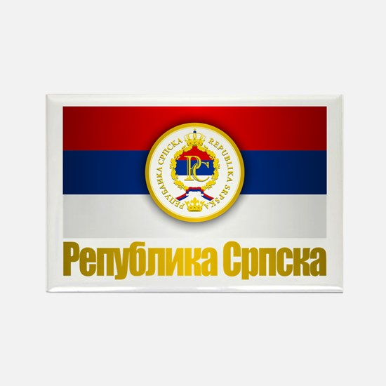 Srpska Flag Rectangle Magnet