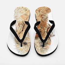 Labradoodle Ginger Flip Flops