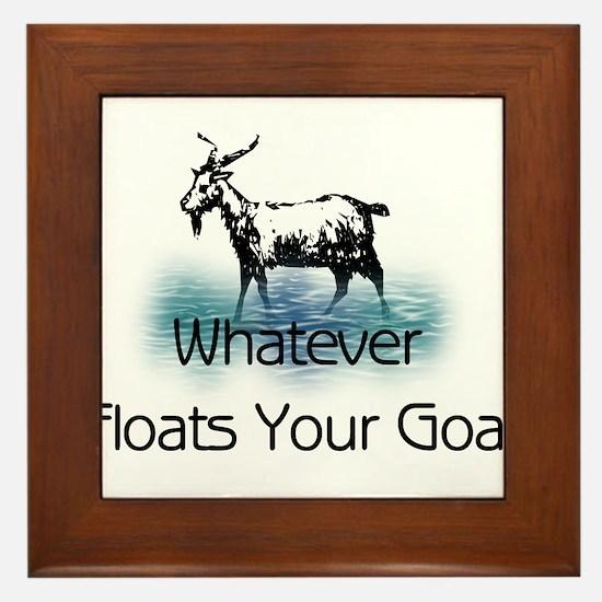 Whatever Floats Your Goat Framed Tile