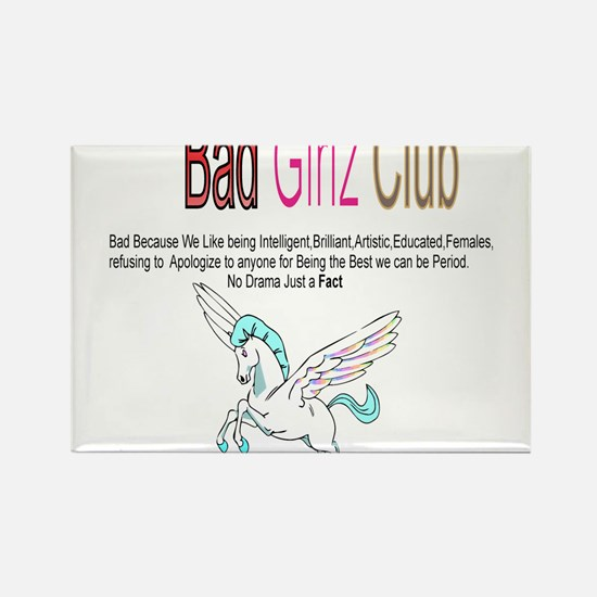 Bad Girlz Club Rectangle Magnet