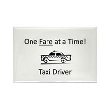 One Fare at a Time! Rectangle Magnet