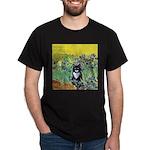 Irises & Cat Dark T-Shirt