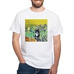 Irises & Cat White T-Shirt