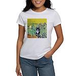 Irises & Cat Women's T-Shirt