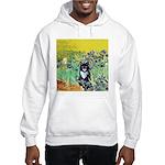 Irises & Cat Hooded Sweatshirt