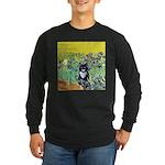 Irises & Cat Long Sleeve Dark T-Shirt