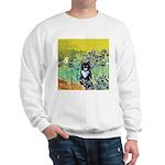 Irises & Cat Sweatshirt