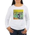 Irises & Cat Women's Long Sleeve T-Shirt
