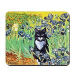 Irises & Cat Mousepad