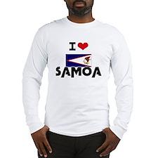I HEART SAMOA FLAG Long Sleeve T-Shirt