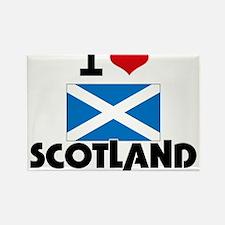 I HEART SCOTLAND FLAG Rectangle Magnet