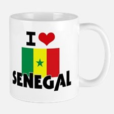 I HEART SENEGAL FLAG Mug