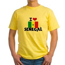 I HEART SENEGAL FLAG T-Shirt