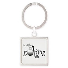 Id Rather Be Golfing Keychains