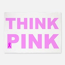 Think pink 5'x7'Area Rug