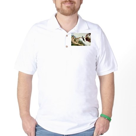 God Creates Cats Golf Shirt