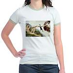 God Creates Cats Jr. Ringer T-Shirt
