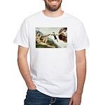 God Creates Cats White T-Shirt