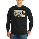 God Creates Cats Long Sleeve Dark T-Shirt