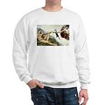 God Creates Cats Sweatshirt