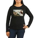 God Creates Cats Women's Long Sleeve Dark T-Shirt