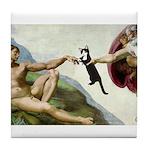 God Creates Cats Tile Coaster