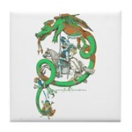 Green Dragon Tile Coaster