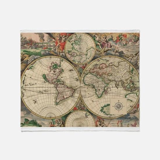 Antique Map Living Room Design Ideas