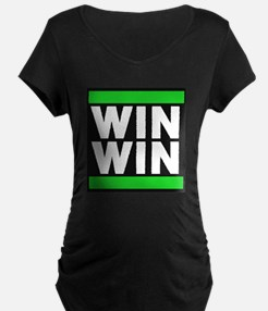 win win 1 green Maternity T-Shirt