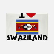 I HEART SWAZILAND FLAG Rectangle Magnet