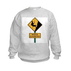 Rock Country Road Sign Sweatshirt