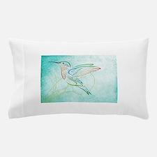 Aqua Hummingbird Watercolor Pillow Case