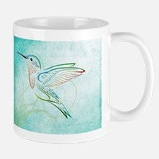 Aqua Hummingbird Watercolor Mug