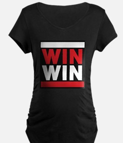 win win 2 red Maternity T-Shirt