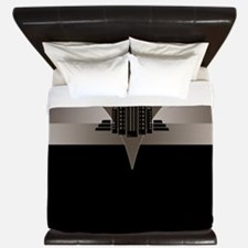 Black and Bronze Art Deco Tower ld King Duvet