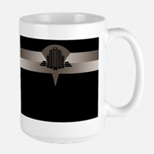 Black and Bronze Art Deco Tower ld Mug