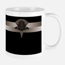 Black and Bronze Art Deco Tower ld Small Mugs