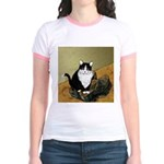 Vincent's Shoes & Kitty Jr. Ringer T-Shirt