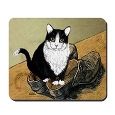 Vincent's Shoes & Kitty Mousepad