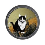Vincent's Shoes & Kitty Wall Clock