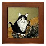 Vincent's Shoes & Kitty Framed Tile
