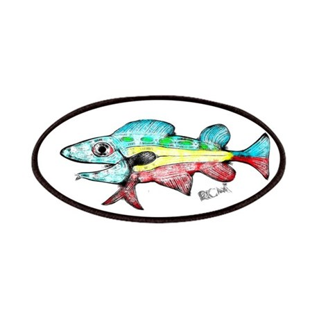 Whiting Abstract Fish Color Patches