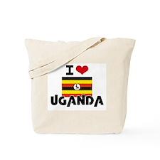 I HEART UGANDA FLAG Tote Bag