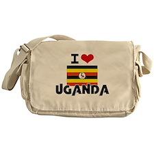 I HEART UGANDA FLAG Messenger Bag
