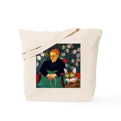 Scaredy Cat_van Gogh parody Tote Bag