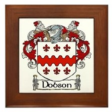 Dobson Coat of Arms Framed Tile