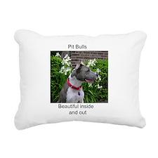 Pit Bulls are Beautiful Rectangular Canvas Pillow
