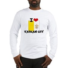 I HEART VATICAN CITY FLAG Long Sleeve T-Shirt