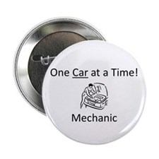 "One Car at a Time! 2.25"" Button"