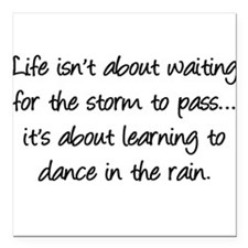 """Life is... Square Car Magnet 3"""" x 3"""""""